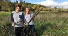 Volunteers plant trees at Salmon Creek