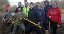 Volunteers at Sandy River Delta