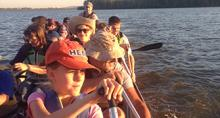 Paddling on Vancouver Lake