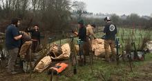 Sound Native Plants staff replanting at East Fork Lewis River