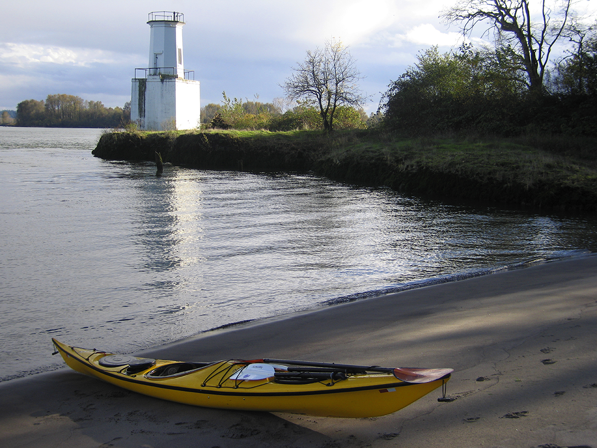 Warrior Rock Lighthouse at the norther tip of Sauvie Island